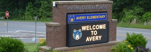 picture of the Avery Elementary Sign