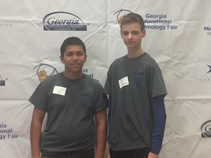 Photo of Connor Campbell and Ethan Durst, who placed 2nd in their category