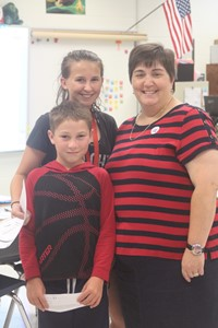 Mrs. McMullen and students