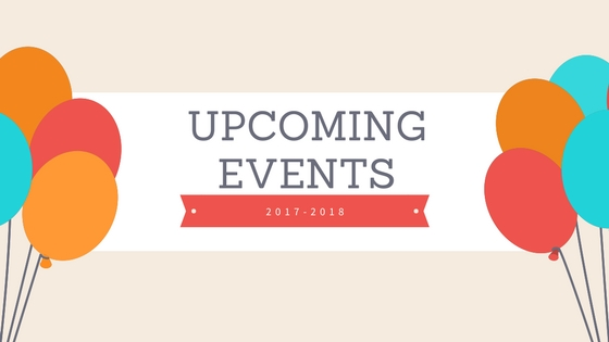 Upcoming Events 2017-2018